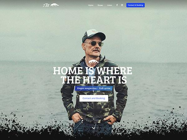 J.tex folk artist hjemmeside eksempel