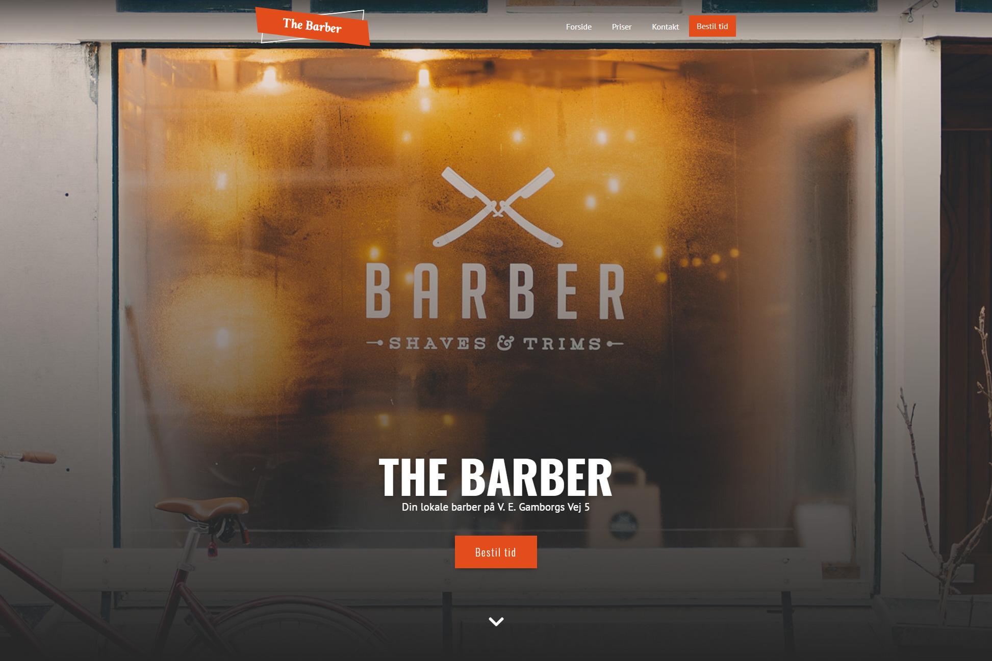 Barber hjemmeside