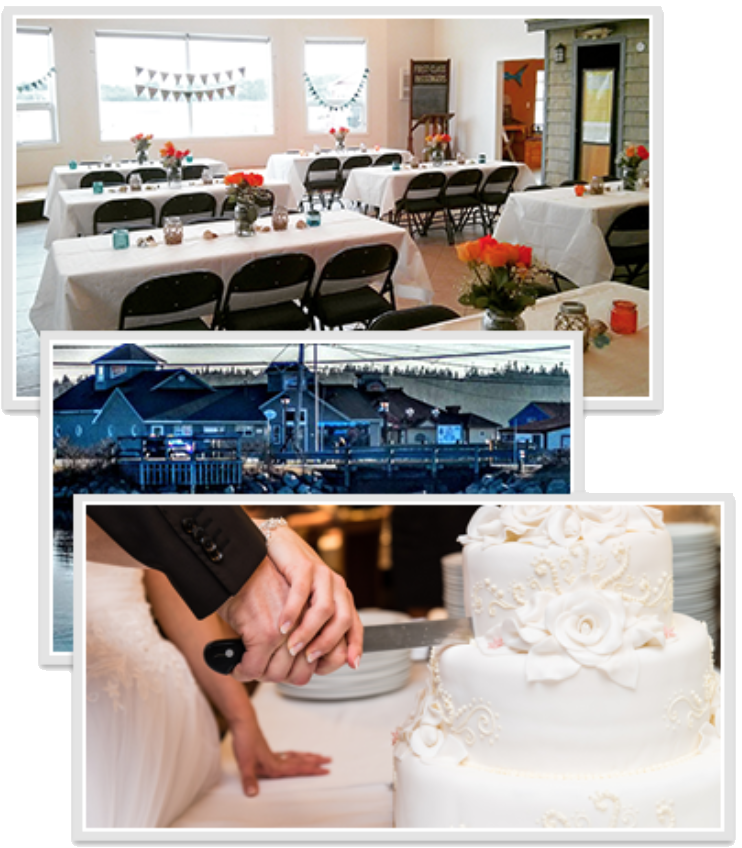 wedding reception collage