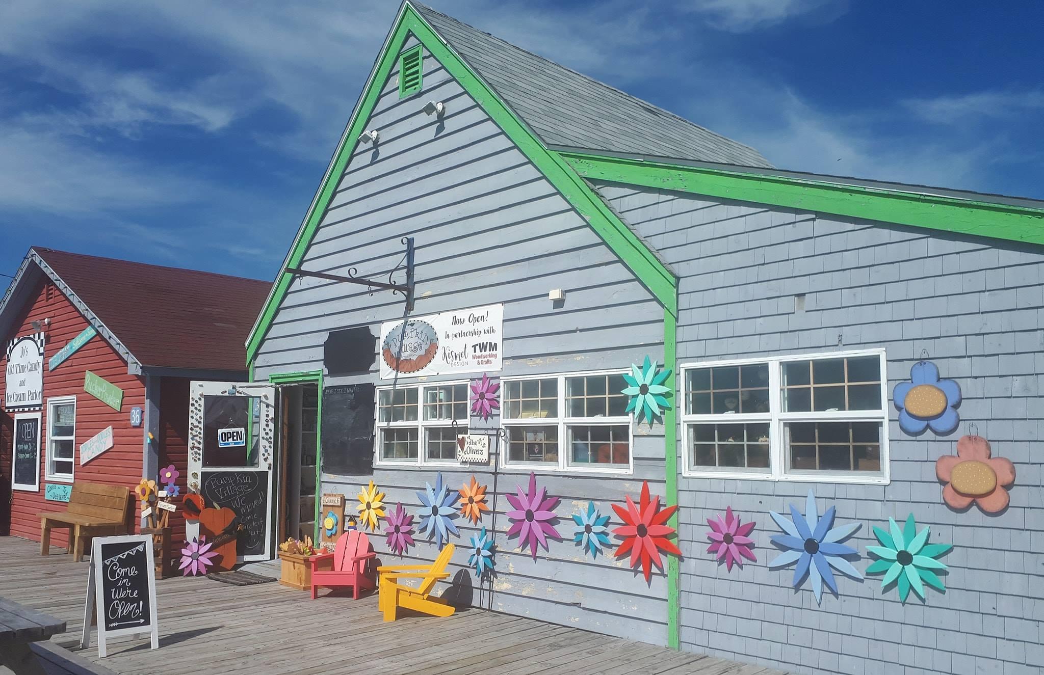 Pumpkin Village shop storefront