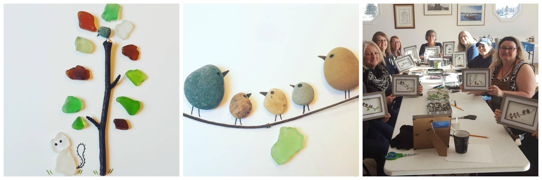 pebble art collage