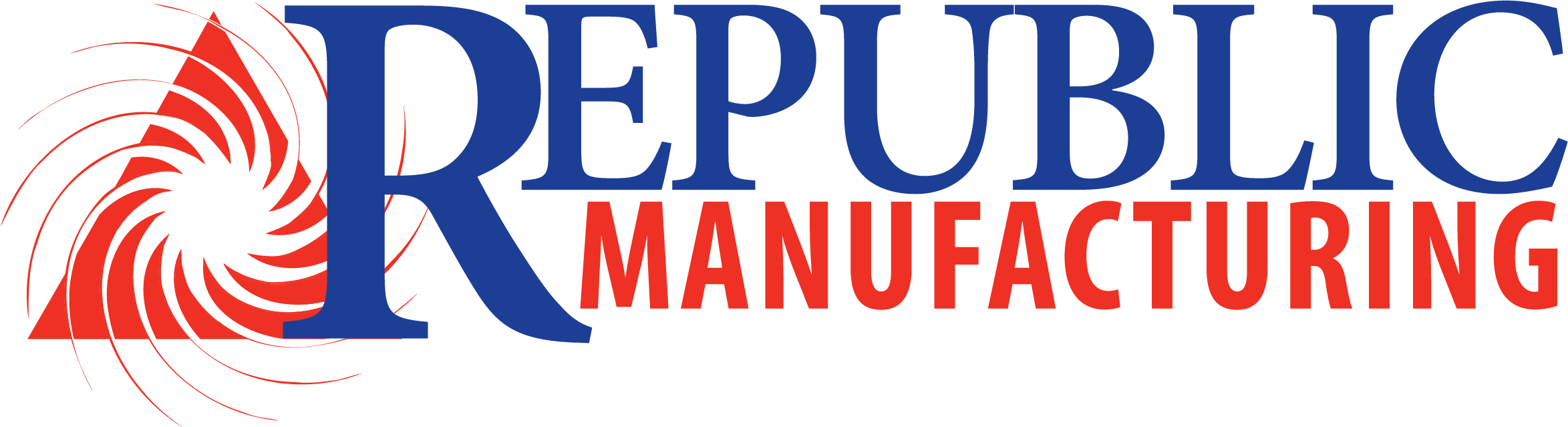 A logo for Republic Manufacturing