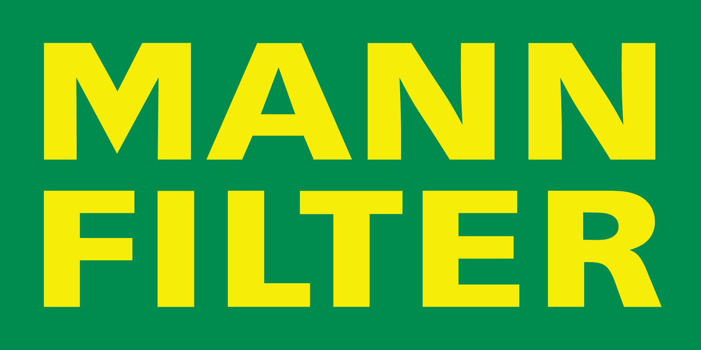 A logo for Mann Filter