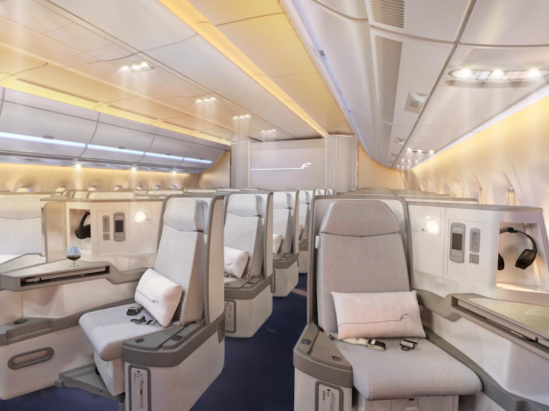 Finnair A350XWB Cabin. Image via Finnair