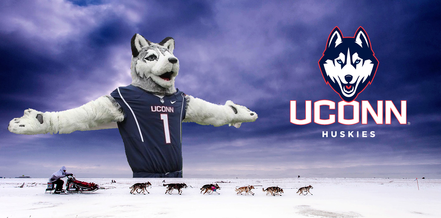 Jonathan The Husky (The University of Connecticut's Mascot) is joining the 2020 Iditarod in lieu of the University's cancelled 2020 football schedule.
