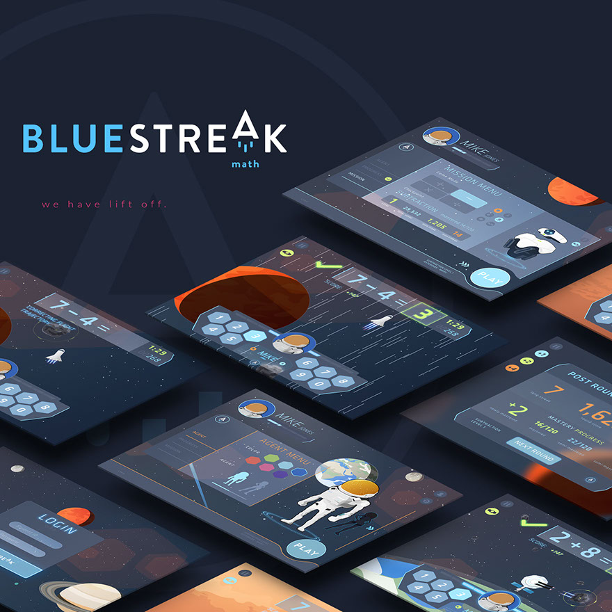 BlueStreak UI mock-up