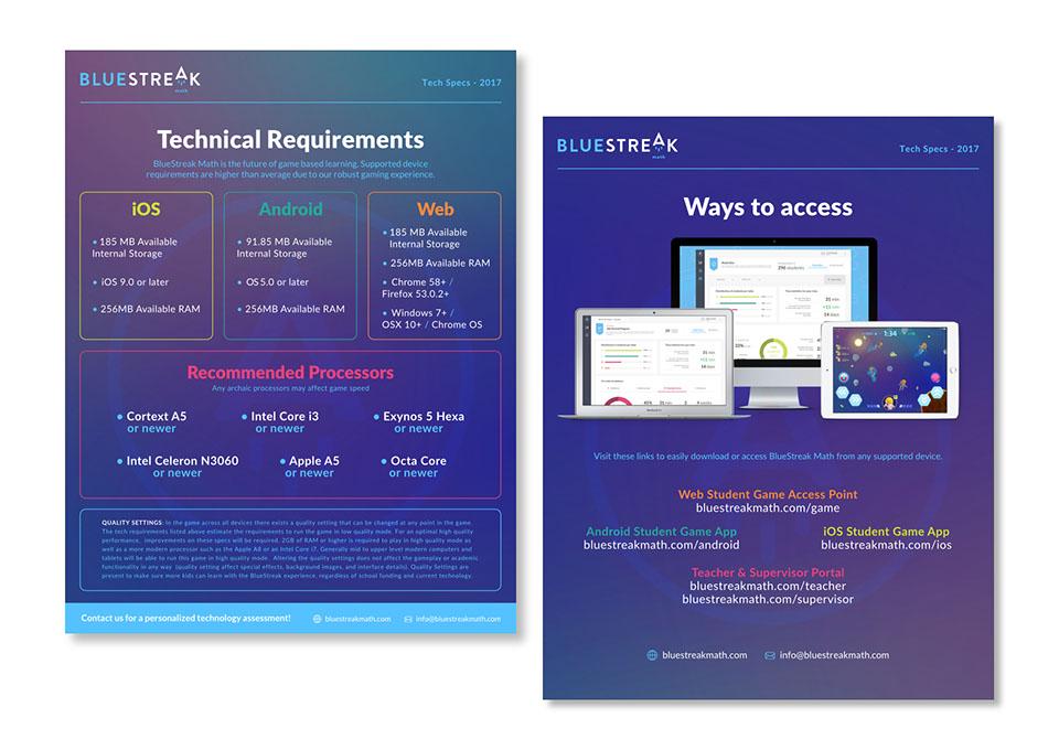 BlueStreak Math Tech Specs