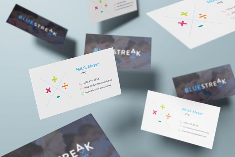BlueStreak Math business cards