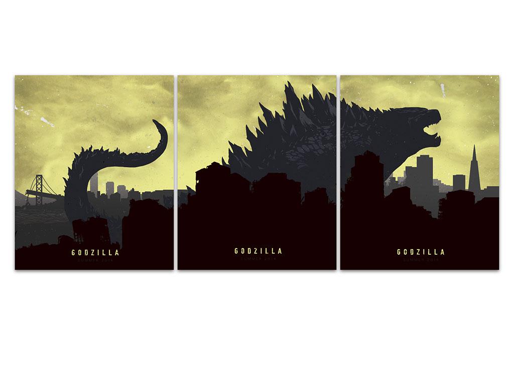 Godzilla poster set