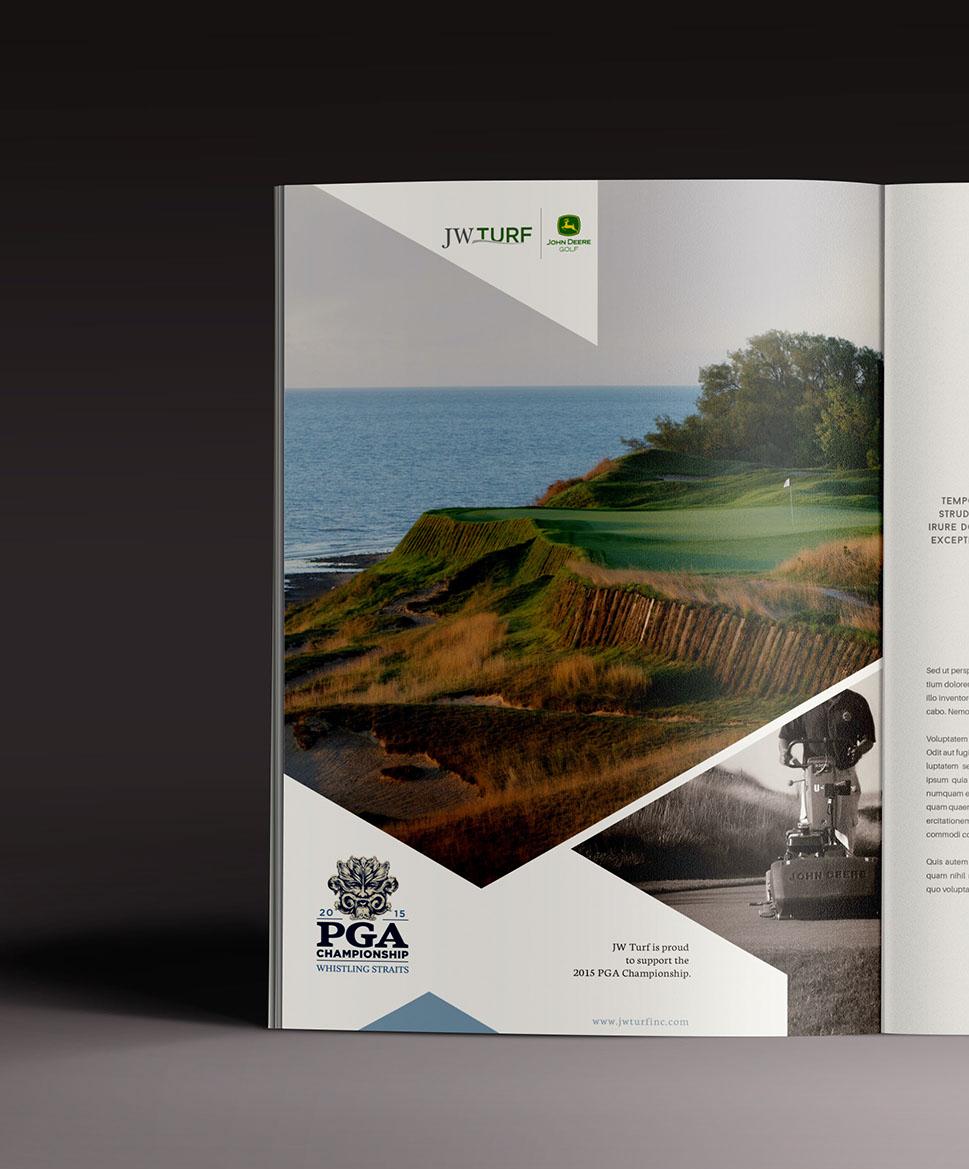 JW Turf PGA Championship print ad