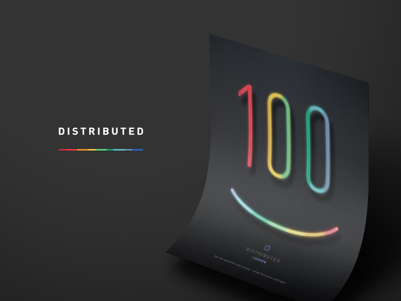 Distributed Weekly Ledger 100th Issue print ad (Distributed 02)