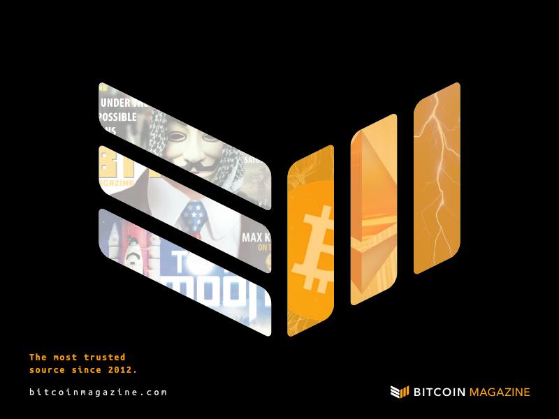 Bitcoin Magazine print ad design (2017)