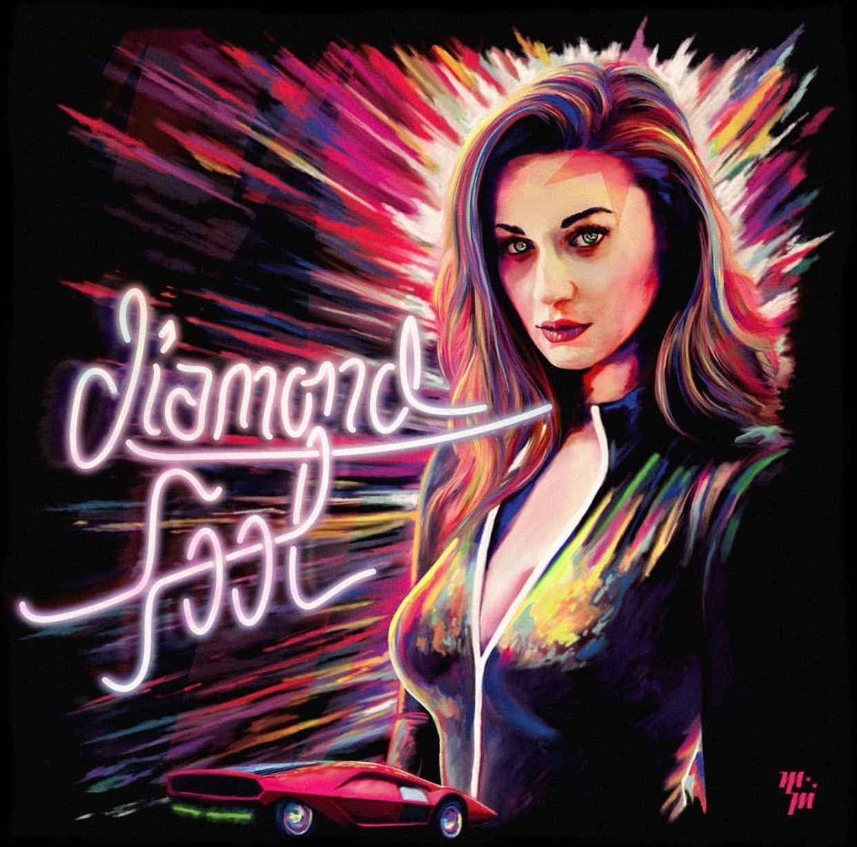 "Marshall Magic - ""Diamond Fool (feat. Ian Munsick)"" official cover art"