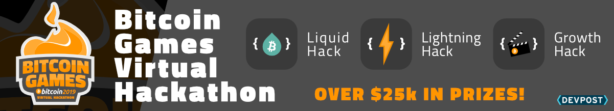 Bitcoin Games Virtual Hackathon branding