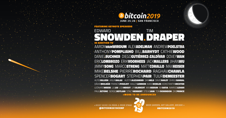 Bitcoin 2019 lineup (not final)