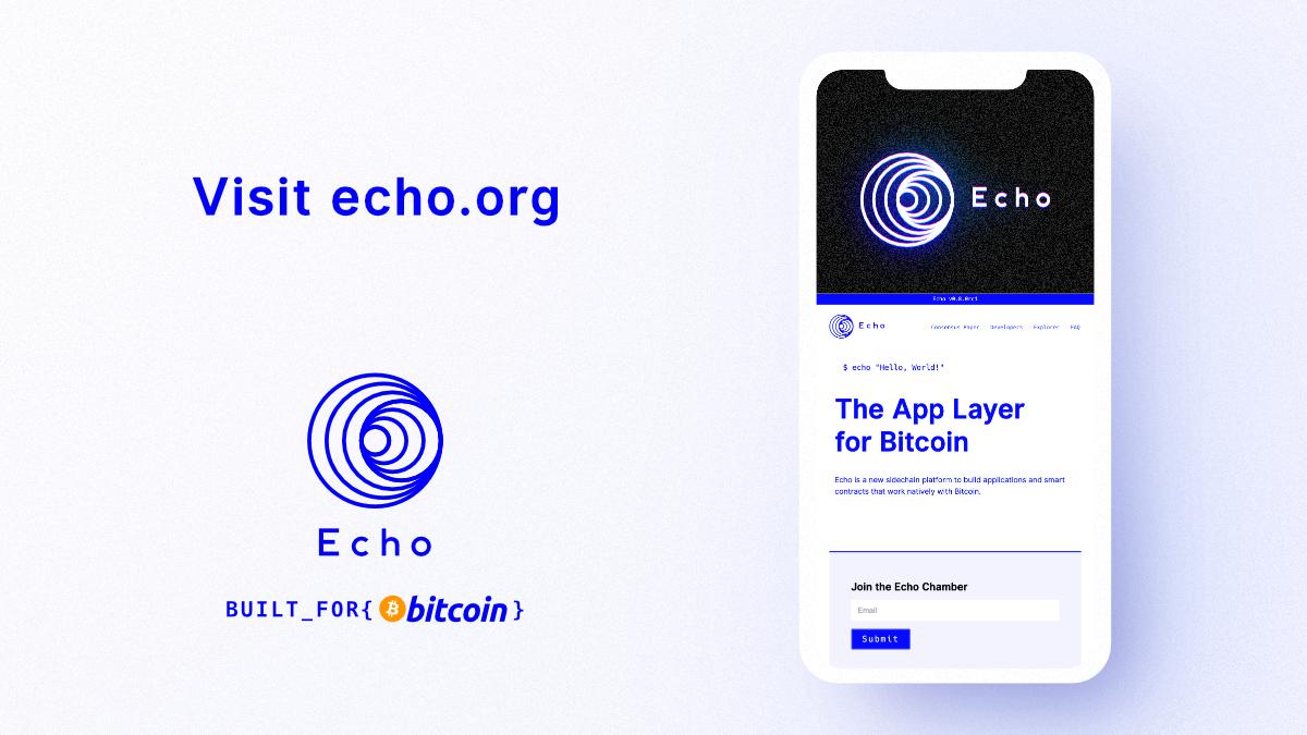 Echo | echo.org new UI