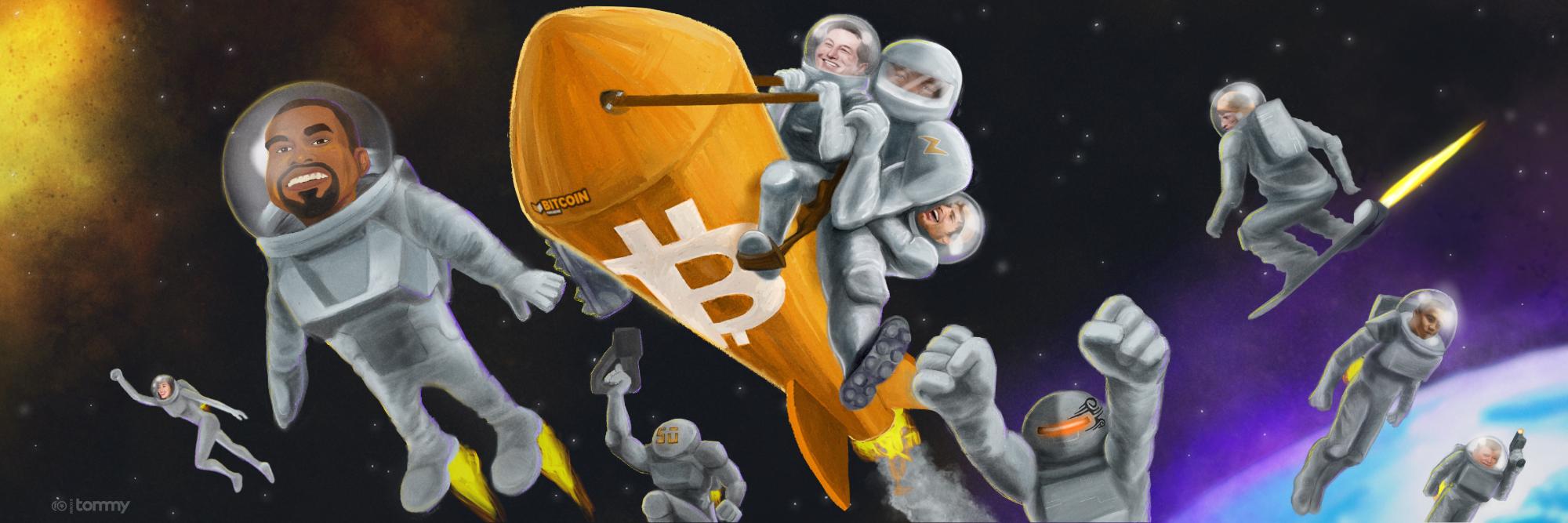 10 Celebs Into Bitcoin – Cover Art for Bitcoin Magazine