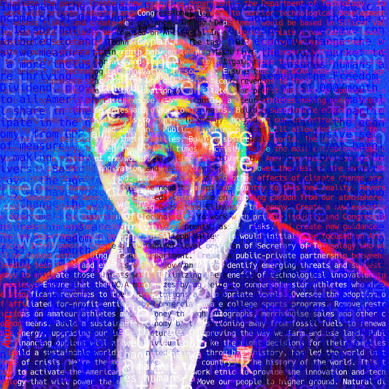 Andrew Yang Policy Portrait #Yang2020 #ArtistsForYang
