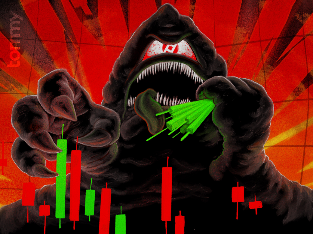 "Bitcoin Magazine Article Artwork – ""Chainalysis: PlusToken Is Dumping on Huobi OTCs, May Be Eating Into BTC Price"""