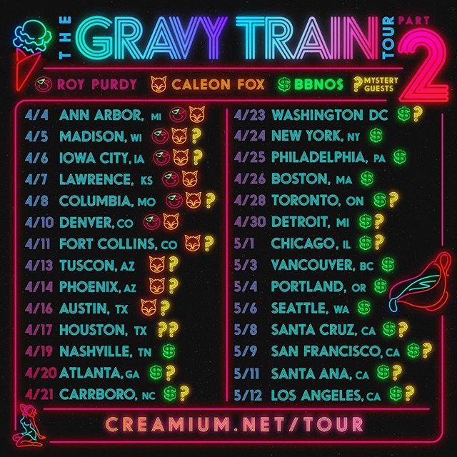 Yung Gravy - Gravy Train Tour Pt. 2 artwork