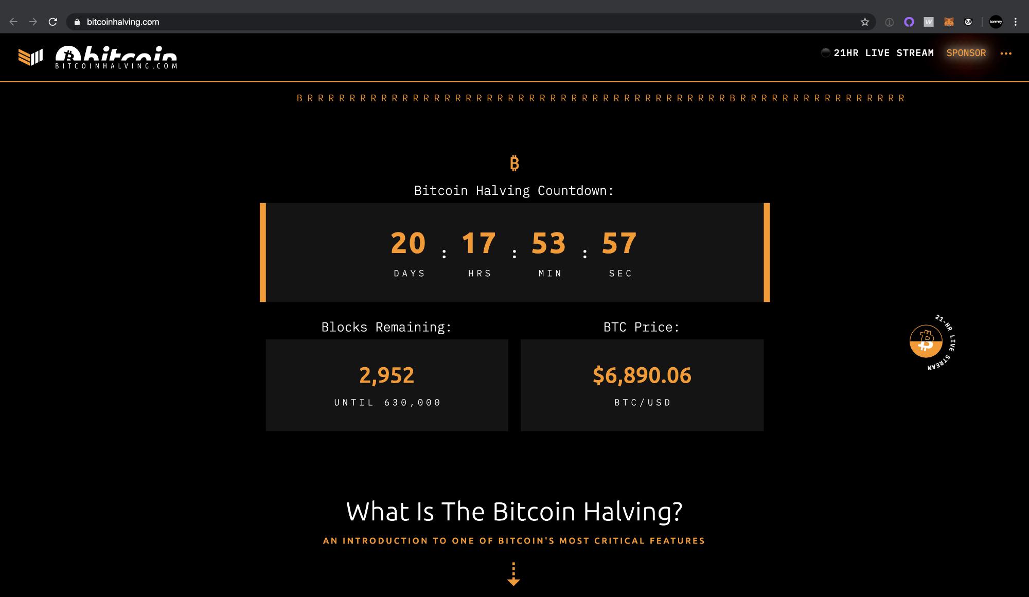 BitcoinHalving.com by Bitcoin Magazine