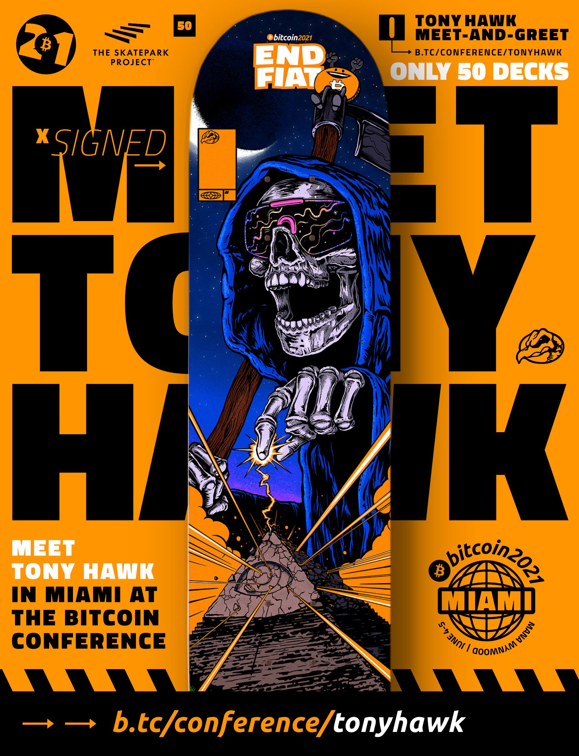 Tony Hawk Meet-and-Greet deck design | B21