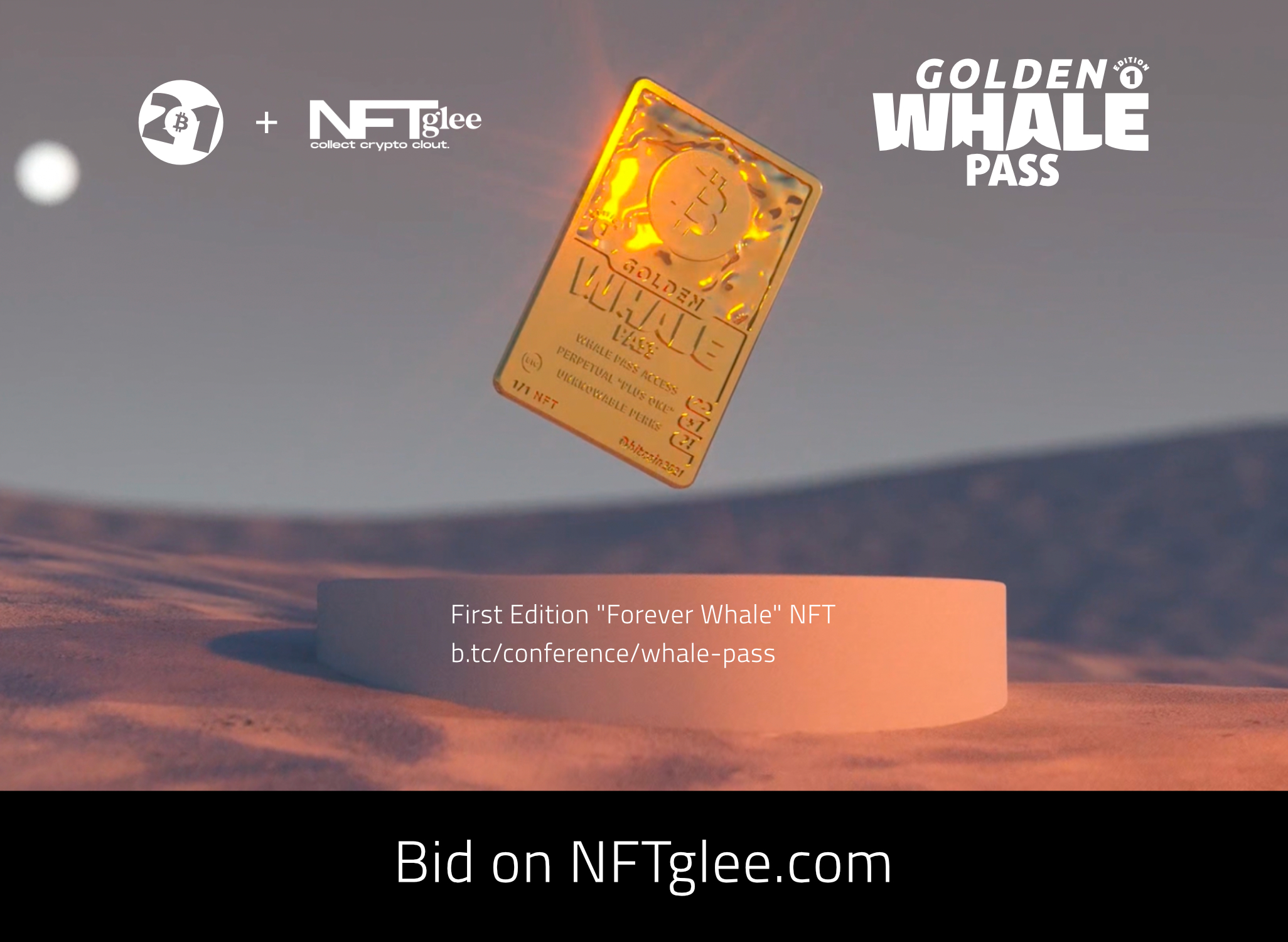 Golden Whale Pass #ForeverWhale NFT