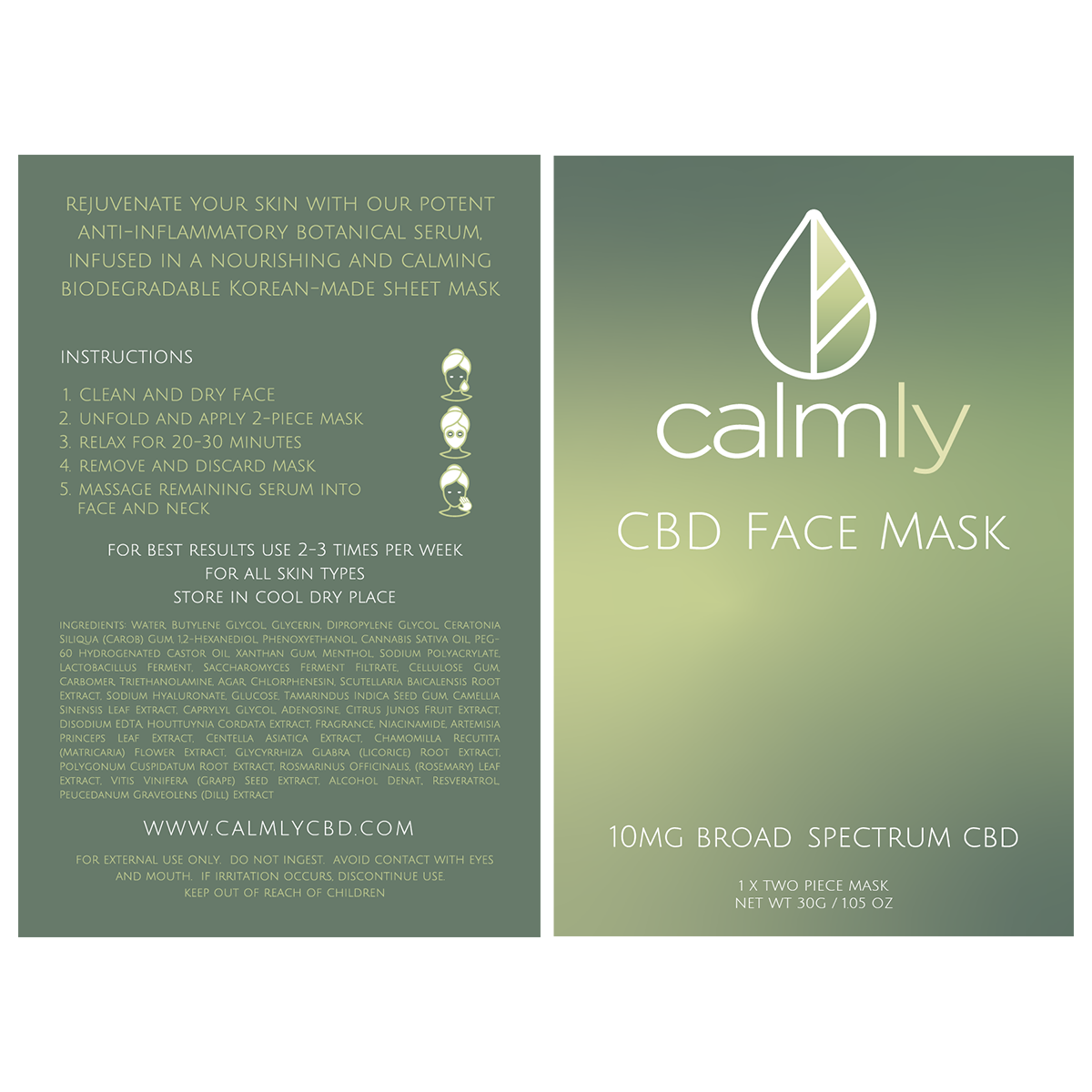 10mg CBD Facer Mask