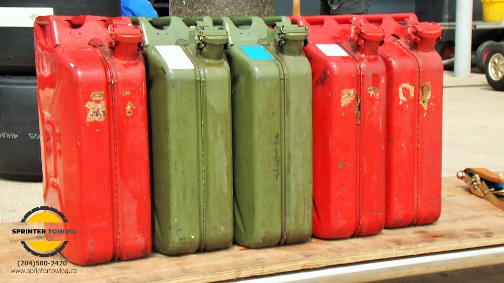 How to store gas cans inside a garage