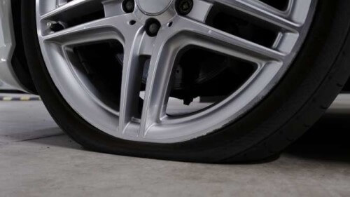 Flat tire without spare
