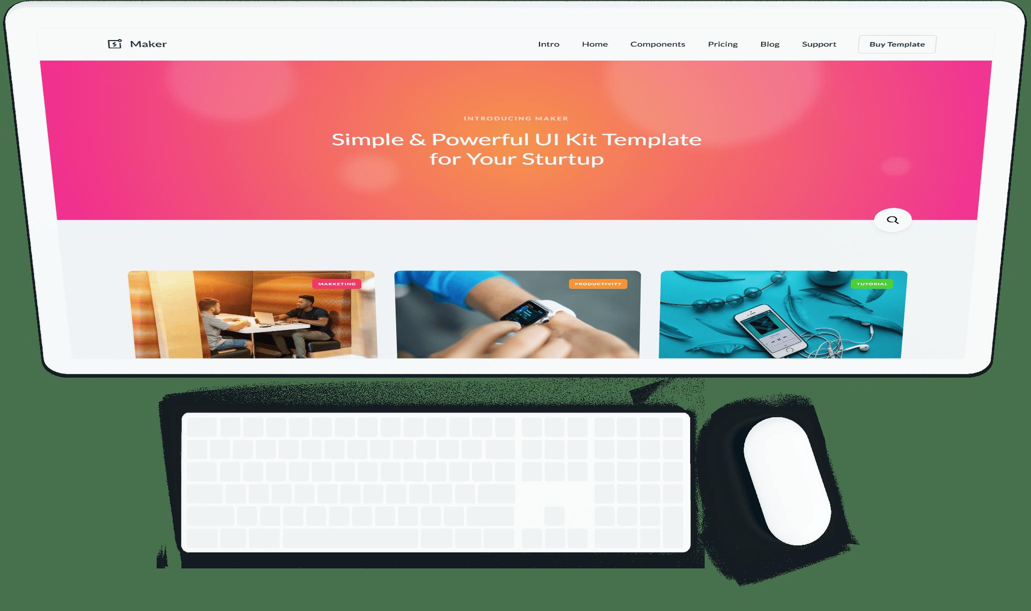 Maker - Webflow HTML website template