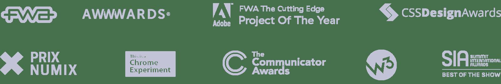 Awards list image