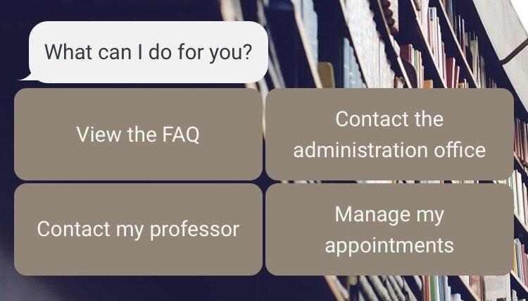 chatbot contact university staff