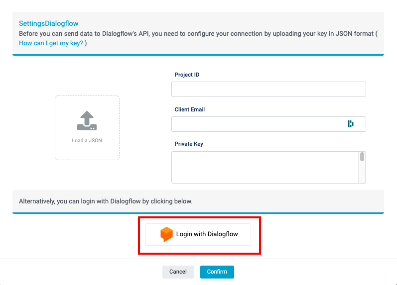 login dialogflow tutorial