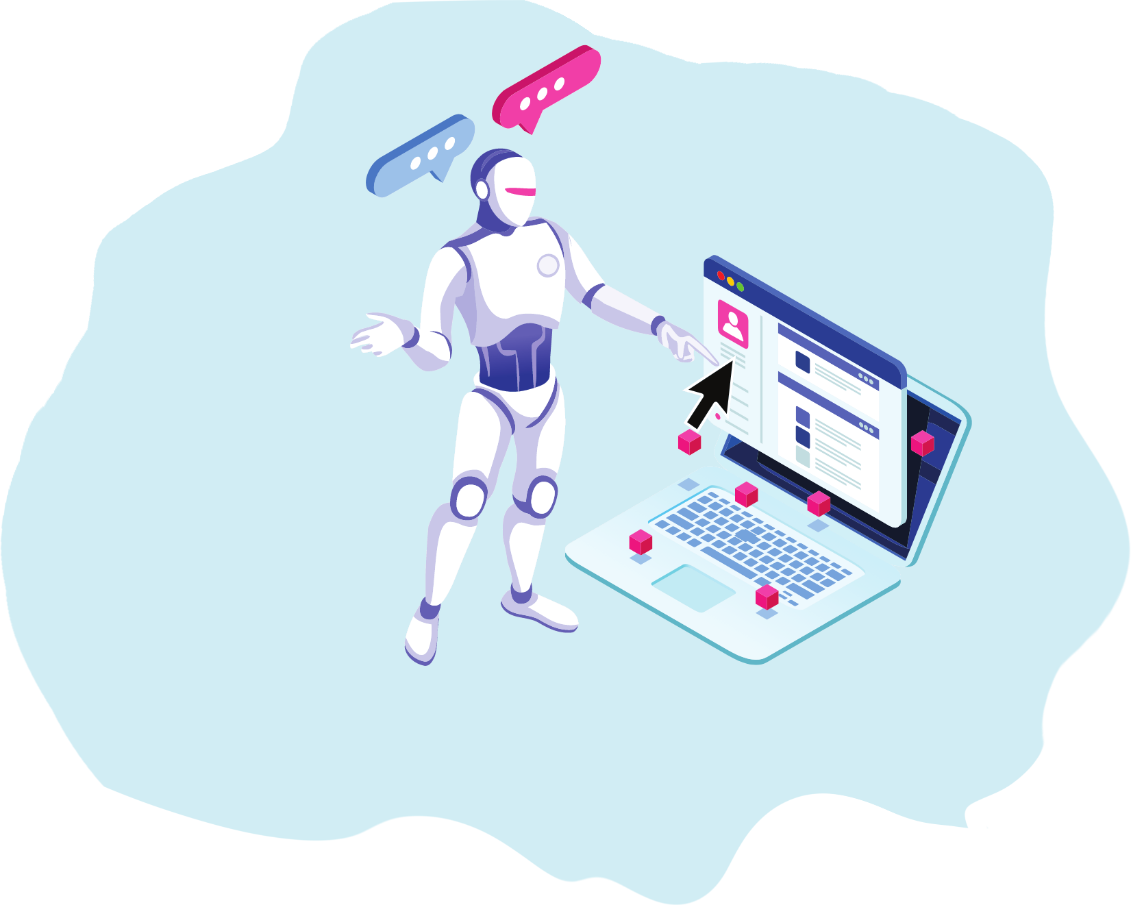 chatbot auto reply and comment facebook hero