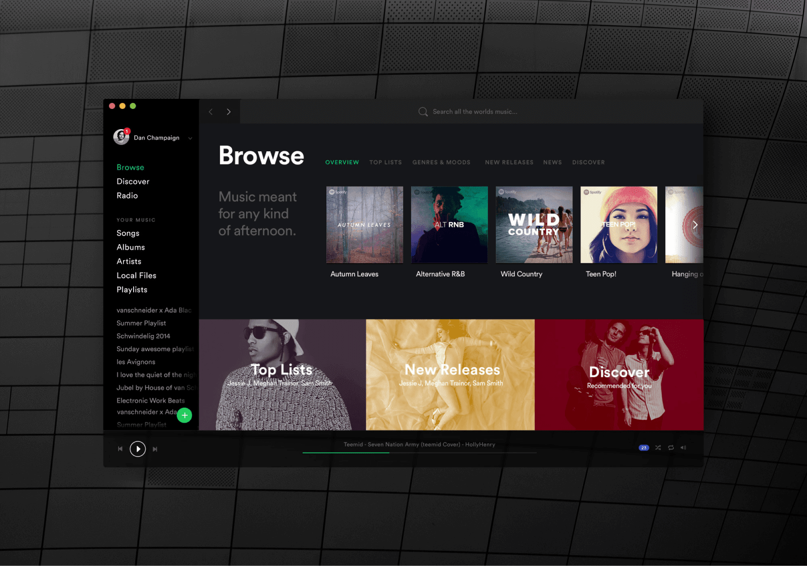Spotify  —   Designing a  music brand and product for millions  of loyal users around the world.