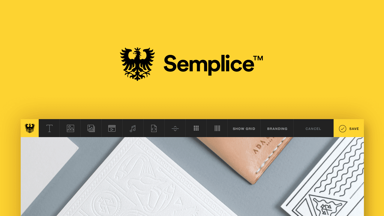 Semplice™ —  Building with pride. The dark horse portfolio system made by designers for designers.