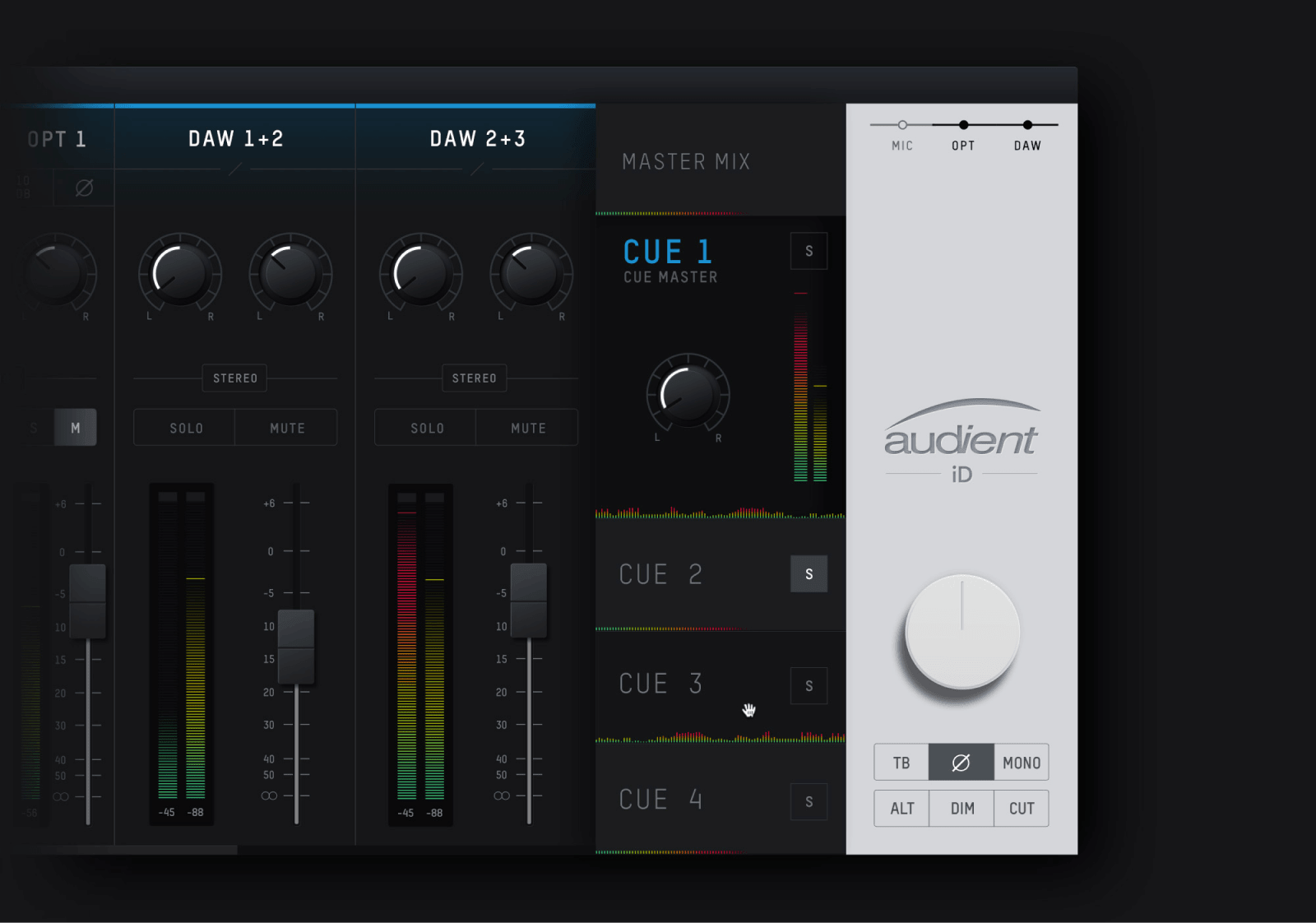 Audient —  Bringing mixer software into the 21st century with the first user-centered mixer interface.