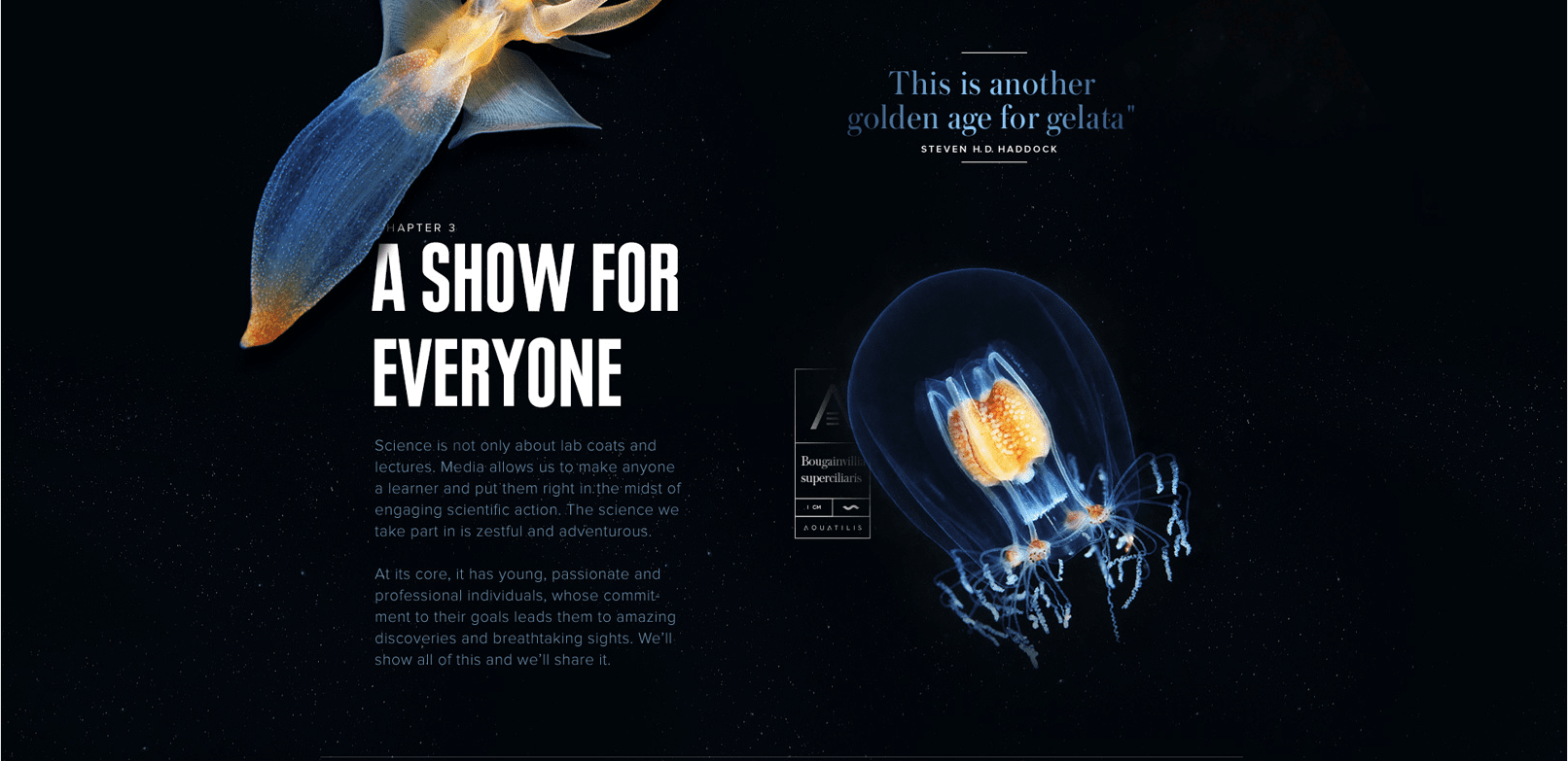 Aquatilis - Using interactive storytelling to share the journey of an undersea expedition.