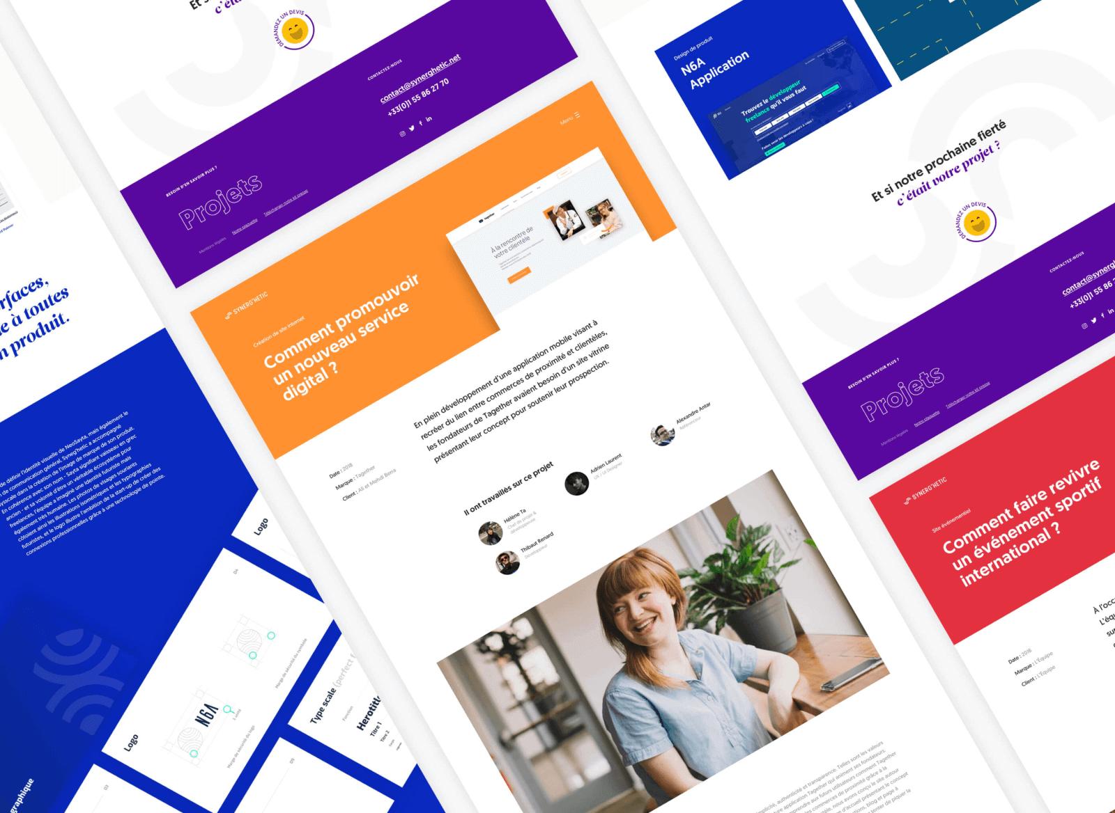 Synerg'Hetic web design