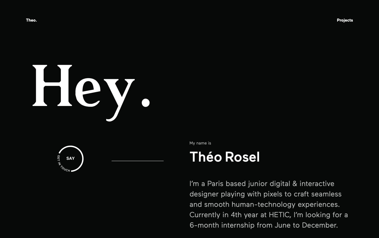 Theo Rosel portfolio