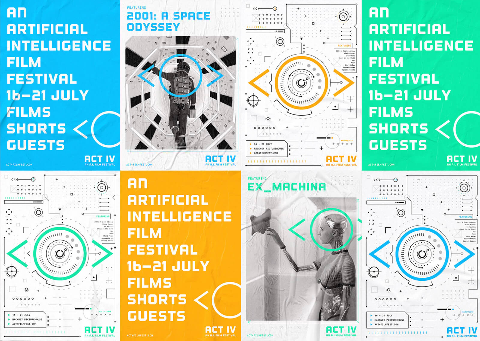 Posters for ACT IV: An A.I. Film Festival