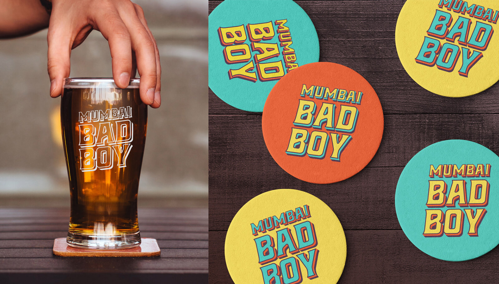 Mumbai Bad Boy branding and packaging