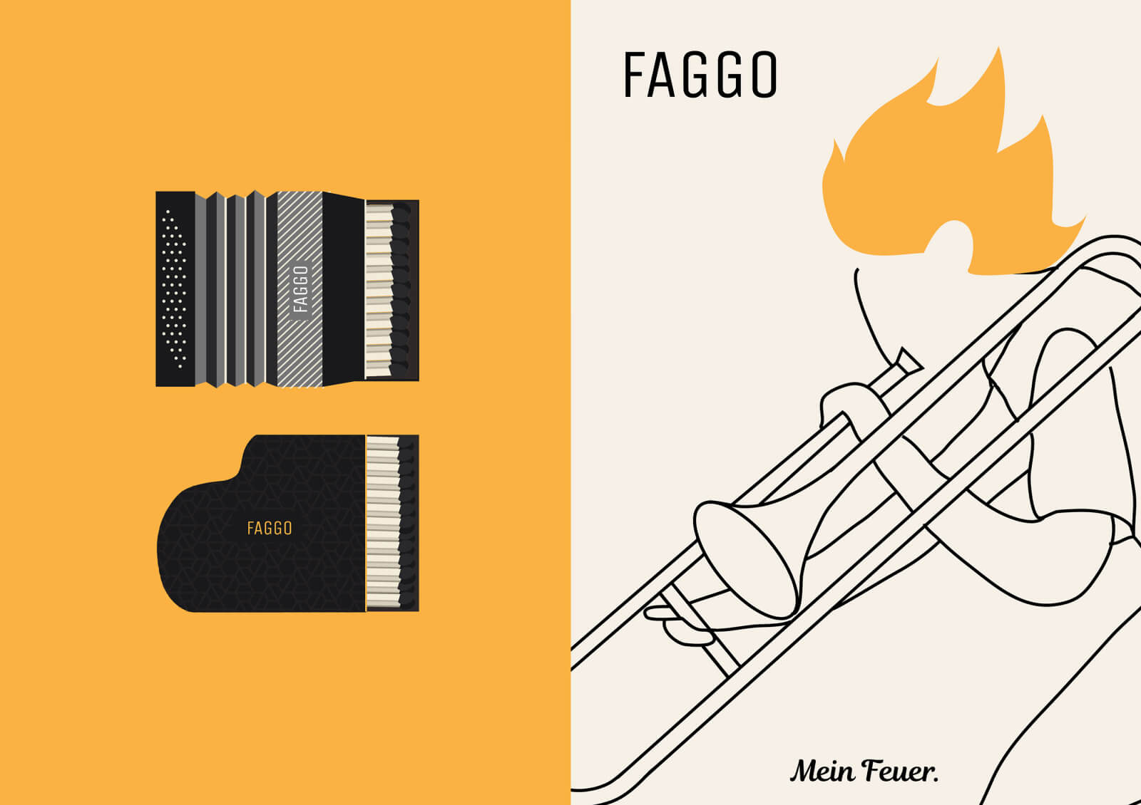 Faggo: branding for a start-up company that sells matches