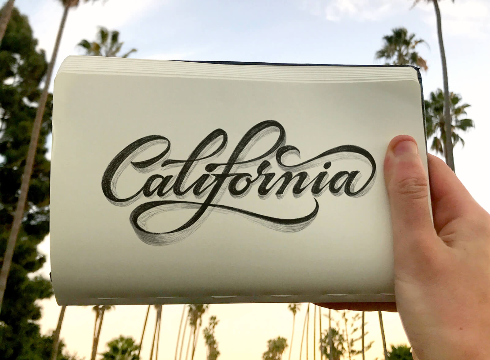 """California"" lettering"