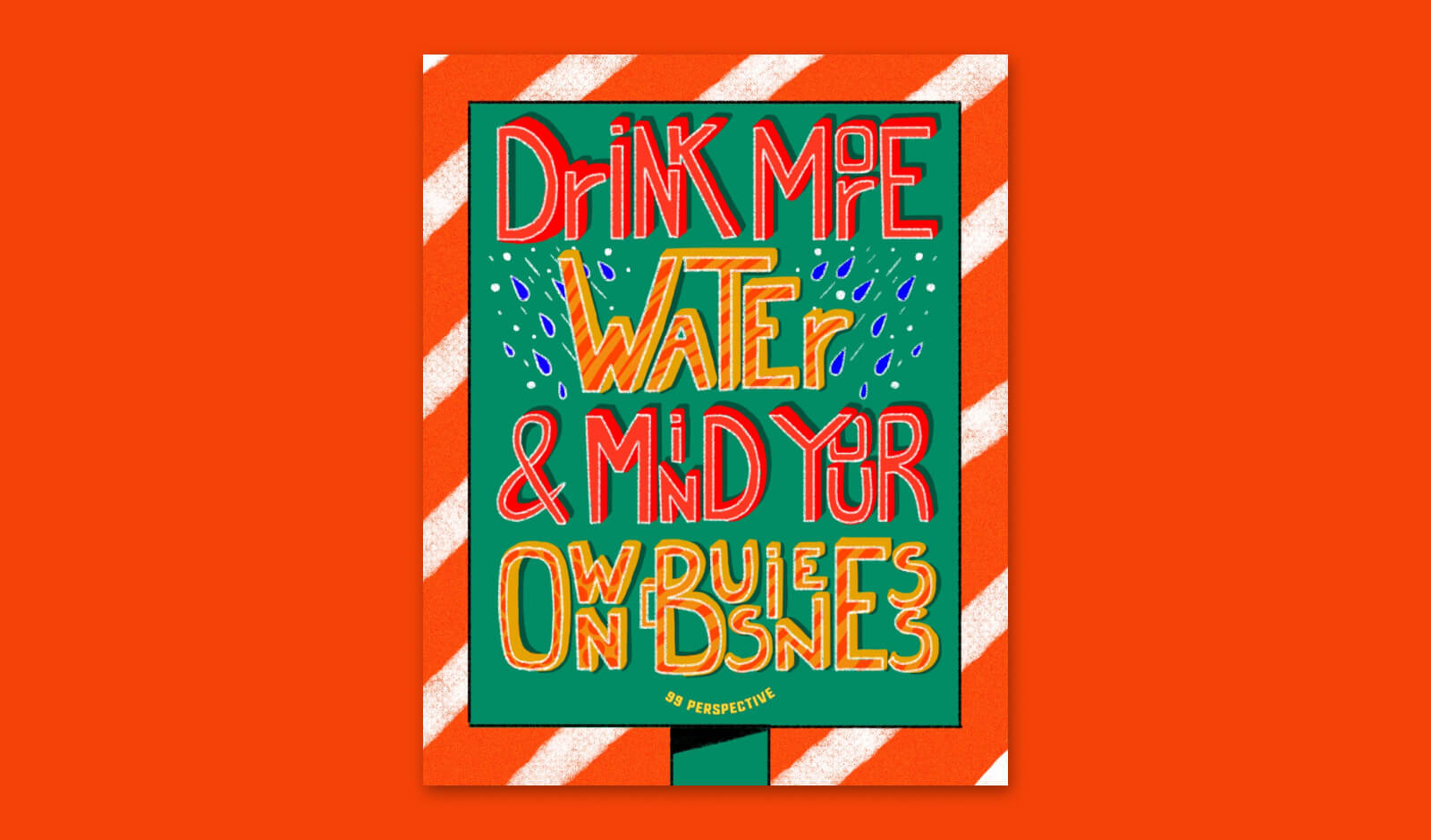 "Hand lettering ""Drink More Water"""