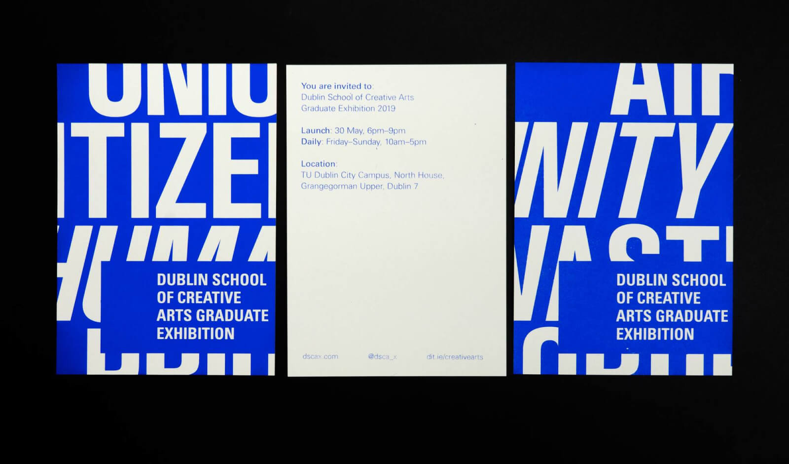 Dublin School of Creative Arts Graduate Exhibition Identity