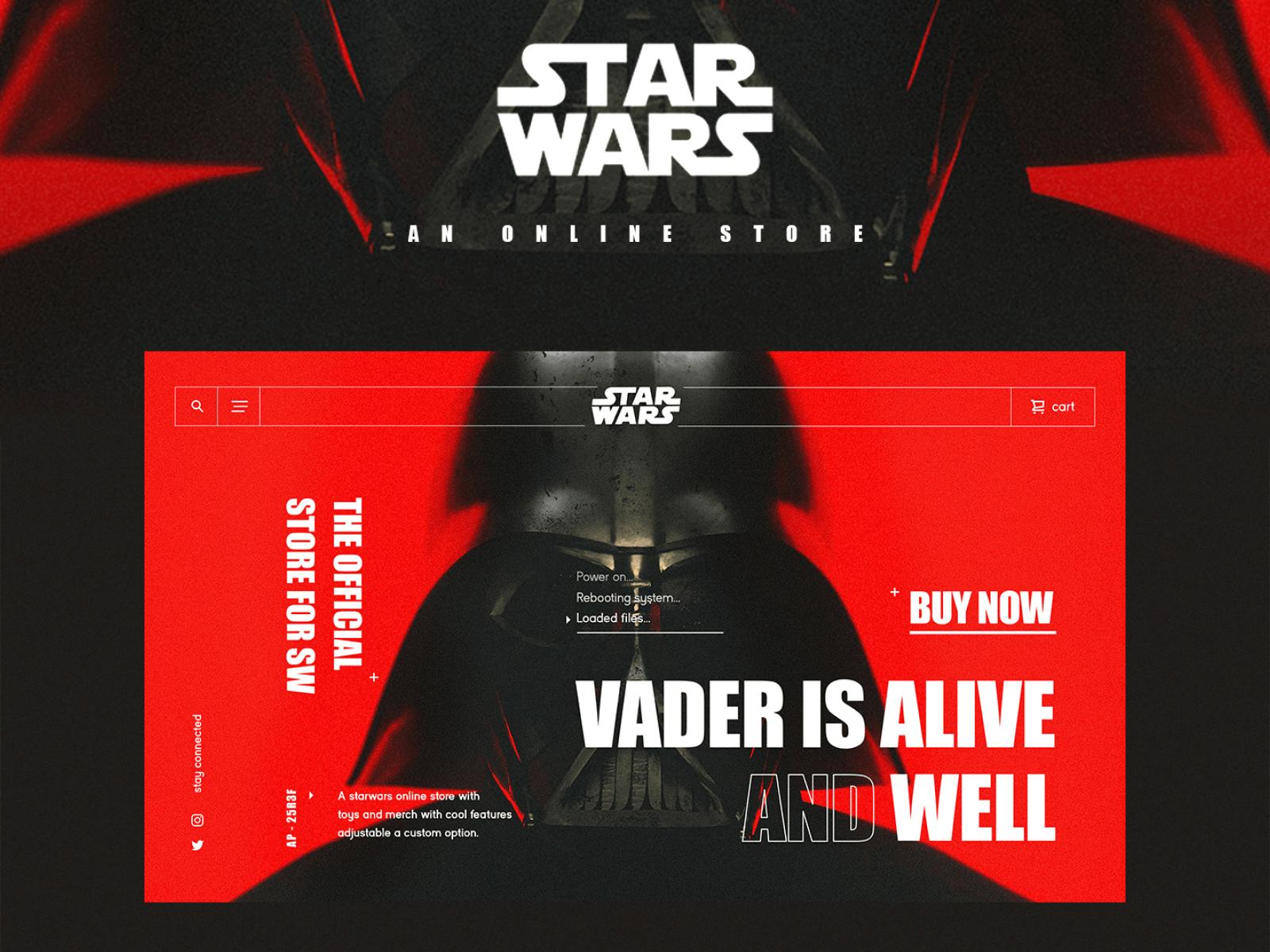 Star Wars online store concept