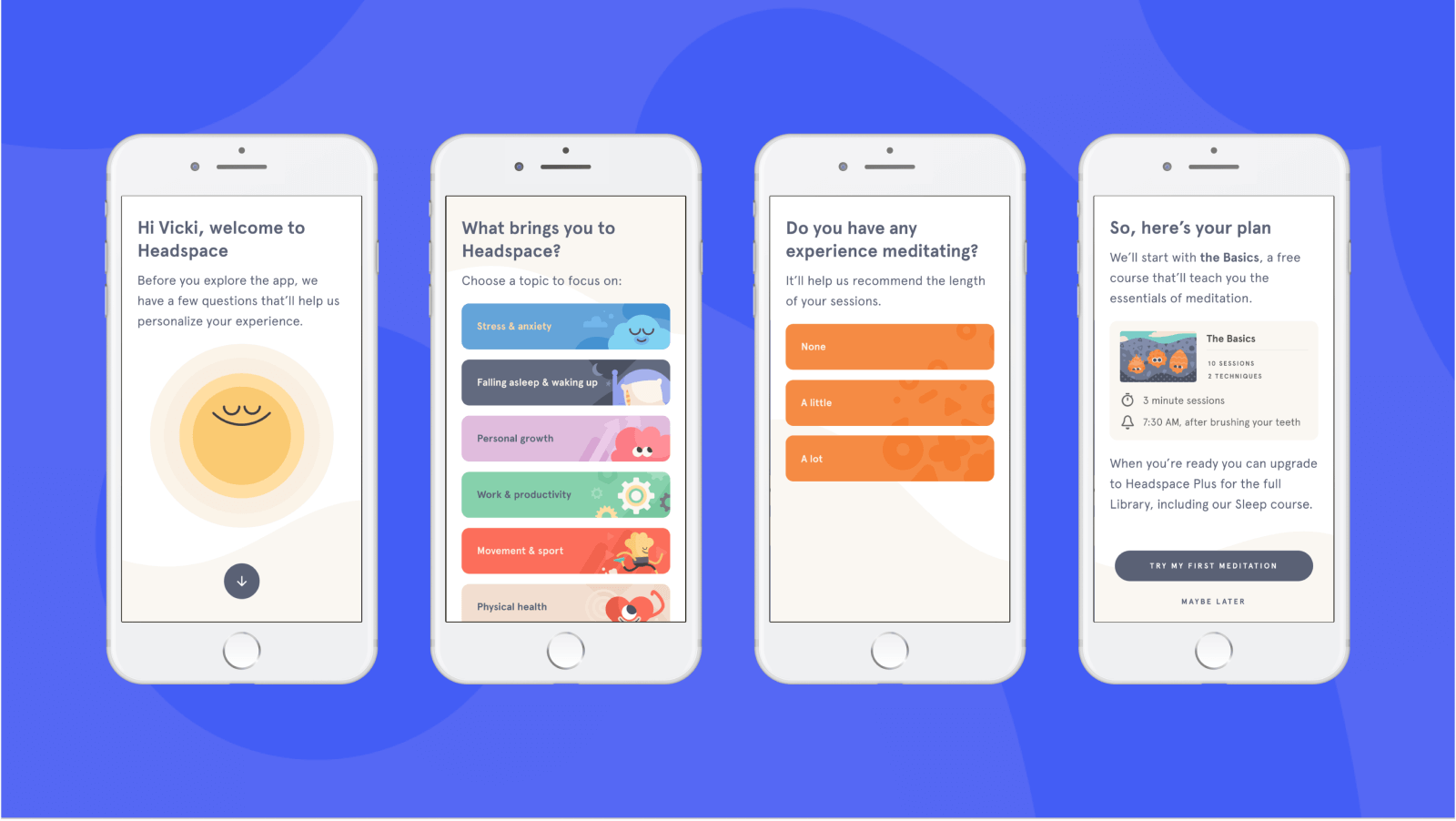 Headspace New User Onboarding