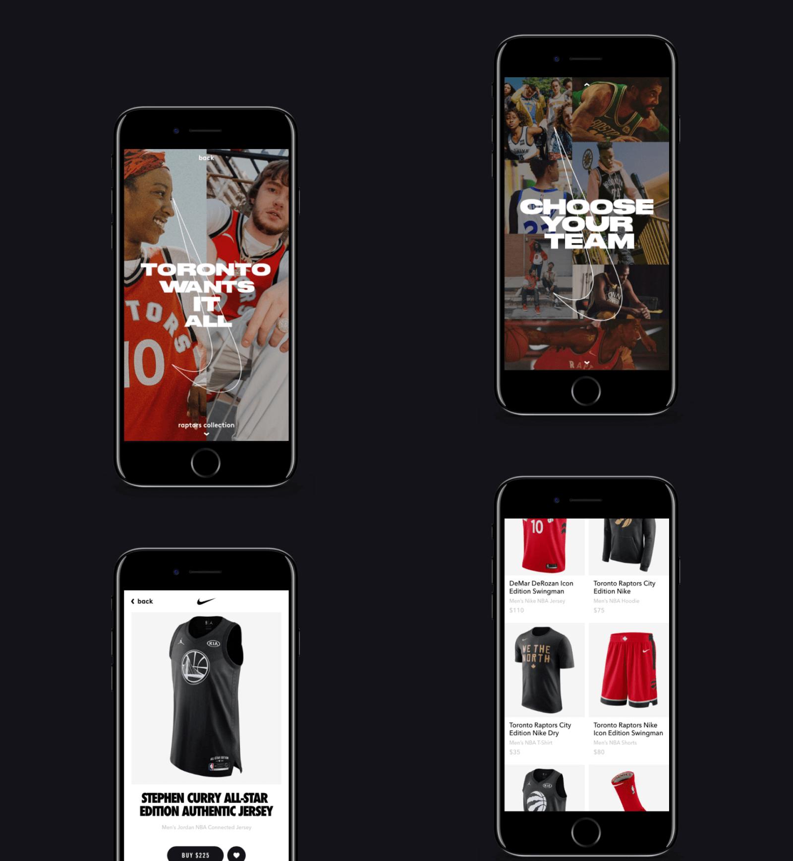 Nike x NBA mobile app - Shoe Detail (Project)